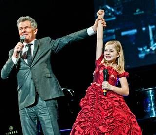 David Foster in concert with Jackie Evancho, Cody Carey and Kenny G, with a guest appearance by Dr. Phil McGraw, at Mandalay Bay Events Center on Dec. 29, 2011.