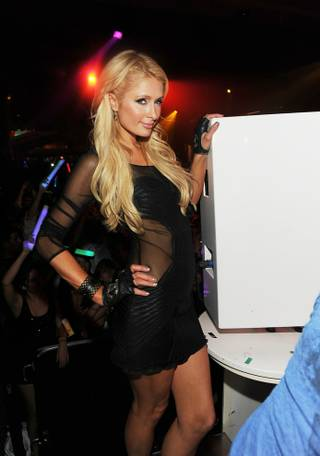 Paris Hilton at Surrender on Dec. 28, 2011.