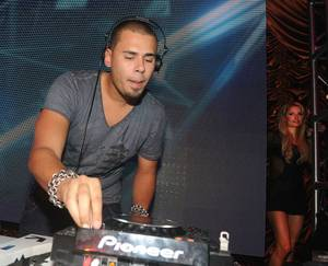 Paris Hilton and DJ Afrojack at Surrender