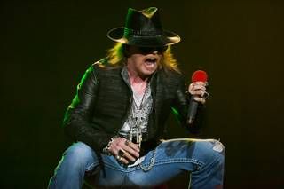 Guns 'n' Roses at the Joint in the Hard Rock Hotel on Dec. 30, 2011.