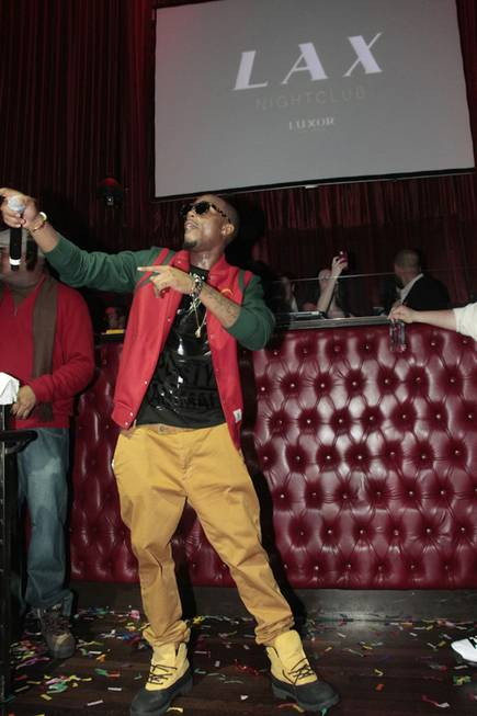 B.o.B at LAX in the Luxor on Dec. 31, 2011.