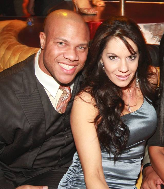 Phil Heath and Jennie Heath at Will.I.Am's New Year's Eve party at Surrender at Encore on Dec. 31, 2011.