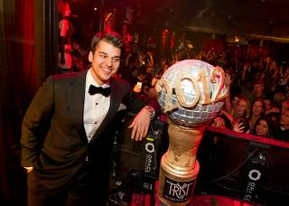 Rob Kardashian hosts the New Year's Eve celebration at Tryst in the Wynn on Dec. 31, 2011.