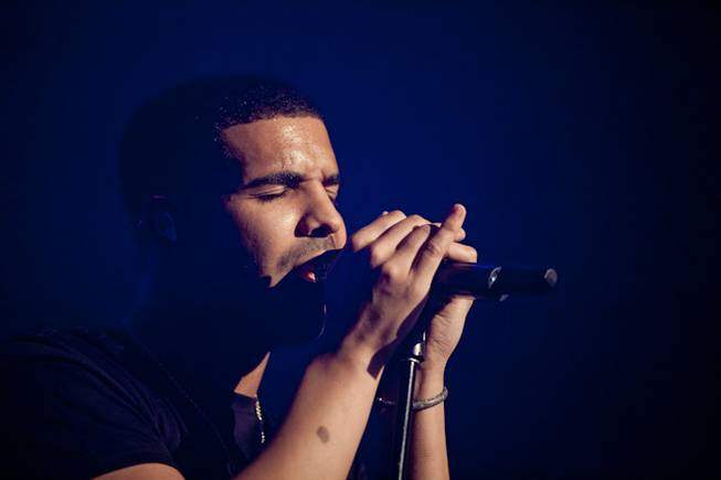 Drake at the Joint in the Hard Rock Hotel on Jan. 1, 2012.