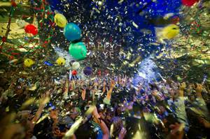 DJ Kaskade's New Year's Eve party at Marquee in the Cosmopolitan on Dec. 31, 2011.