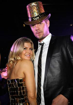 Fergie and Josh Duhamel at 1 OAK in the Mirage ...