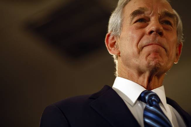 Rep. Ron Paul, R-Texas, a candidate for the Republican presidential nomination, attends his caucus night party in Ankeny, Iowa, on Jan. 3, 2012.