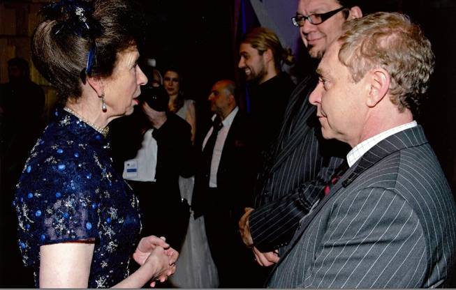 Princess Anne with Rio headliners Penn & Teller.