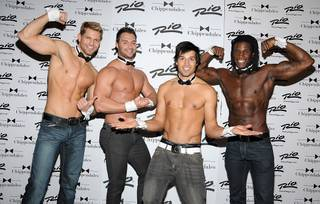Chippendales guest Ricardo Laguna at the Rio on Jan. 5, 2012.