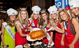 The 2012 Miss America Pageant IHOP pancake breakfast on Jan. 6, 2012.