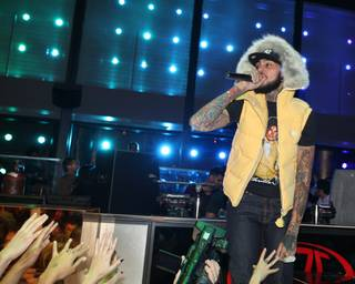 Travie McCoy performs at Haze in Aria on Jan. 5, 2012.