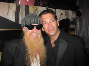 Billy Gibbons of ZZ Top and Marklen Kennedy at Hyde Bellagio on Jan. 3, 2012.