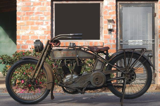 This original 1915 Harley-Davidson Model 11-F is among the motorcycles up for auction at the Bonham auction at the Imperial Palace.
