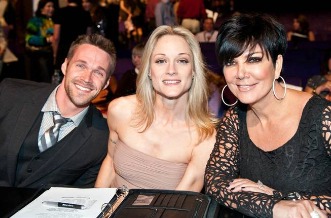 First-night preliminary competition and the introduction of the judges, including, pictured here, Chris Powell, Teri Polo and Kris Jenner, in the 2012 Miss America Pageant at Planet Hollywood on Jan. 10, 2012.