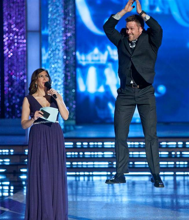 First-night preliminary competition and the introduction of the judges in the 2012 Miss America Pageant at Planet Hollywood on Jan. 10, 2012.