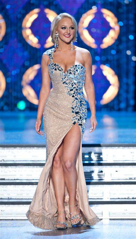 Miss Nevada Alana Lee in the second-night preliminary competition in the 2012 Miss America Pageant at Planet Hollywood on Jan. 11, 2012.
