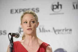 Teri Polo at the 2012 Miss America Pageant judges Q&A at Planet Hollywood on Jan. 11, 2012.