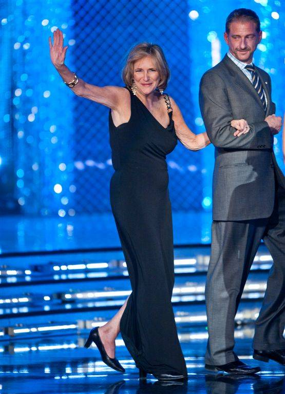 Third-night preliminary competition in the 2012 Miss America Pageant at Planet Hollywood on Jan. 12, 2012, which also included a Judge of the Year contest won by Mark Ballas. 1974 Miss America Rebecca King Dreman is pictured here.