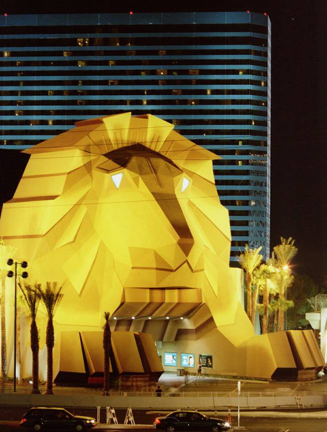 Entrance through the lion's mouth at the old MGM Hotel & Casino was considered unlucky by some.