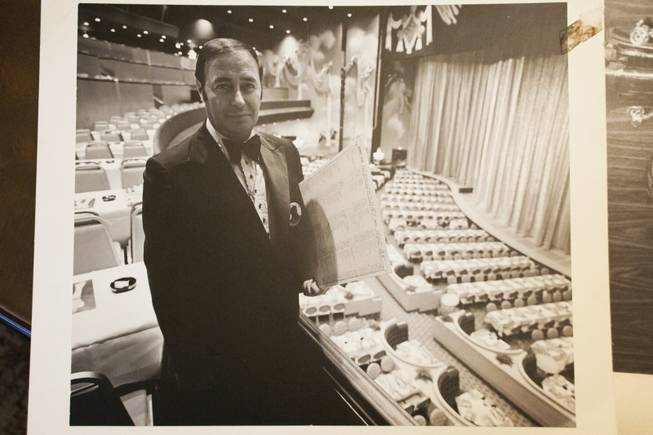 "A photograph of Emilio, circa 1972, standing in the Las Vegas Hilton Showroom, Monday Jan. 9, 2012. Emilio worked as Vegas' most beloved maitre'd of the Hilton, and the International before that, and befriended many important people in the ""who's who"" of Vegas, Hollywood, and the world."