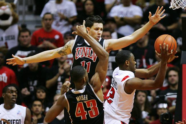 UNLV San Diego State during their game Saturday, Jan. 14, 2012 at Viejas Arena in San Diego.