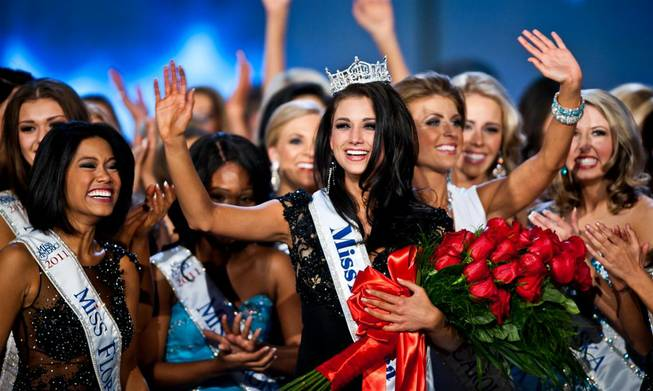 The 2012 Miss America Pageant at Planet Hollywood on Saturday, Jan. 14, 2012, with the crowning of Miss Wisconsin Laura Kaeppeler, 23, of Kenosha as the new Miss America.