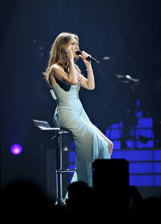 Celine Dion performs a Children's Hospital Boston benefit concert to raise money for sickle-cell research at Caesars Palace on Sunday, Jan. 15, 2012.