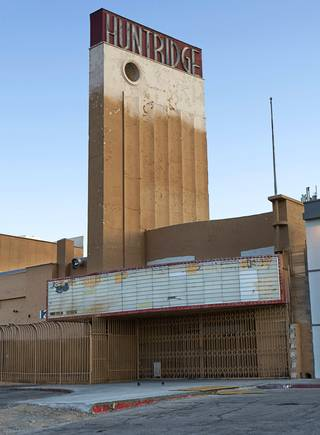 An exterior view of the Huntridge Theater on the southeast corner of East Charleston Boulevard and Maryland Parkway Monday, Jan. 16, 2012. Designed by architect S. Charles Lee, the theatre opened on October 10, 1944. It  has been closed since January 1, 2002.