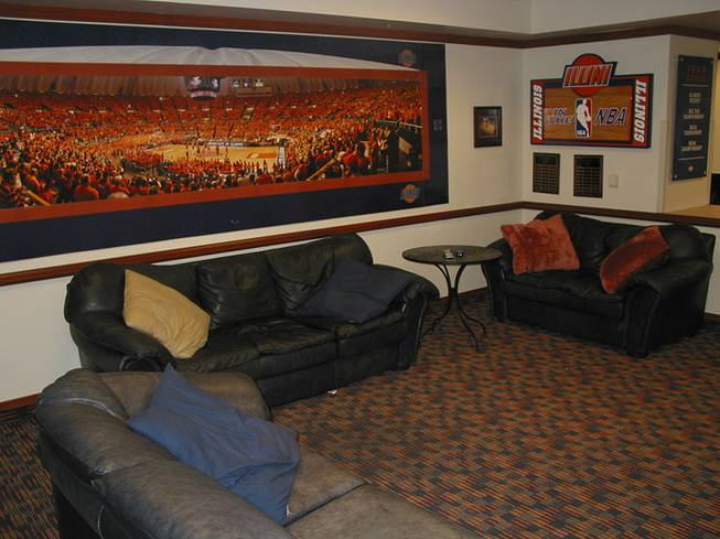 A look at the players' lounge at the University of Illinois' Ubben Basketball Complex. Former UNLV coach Lon Kruger, who coached previously at Illinois before his stint with the Rebels, used this facility as inspiration when organizing the development and funding of UNLV's Mendenhall Center. The center opens this month.