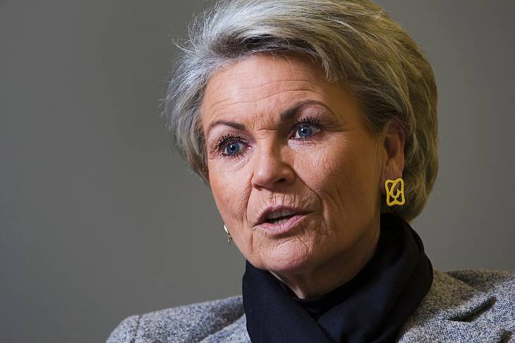Pat Mulroy is shown during an editorial board meeting at the Las Vegas Sun offices Wednesday, Jan. 18, 2012, in Henderson.