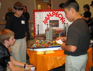 Clark County middle school students gathered at Northwest Career and Technical Academy Saturday to compete in the Future City Competition. Teams of students built tabletop model