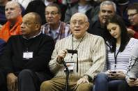 UNLV coaching legend Jerry Tarkanian watches the Findlay Prep game against Bishop Gorman Saturday, Jan. 21, 2012 at Cox Pavilion. Findlay won the game 73-61.