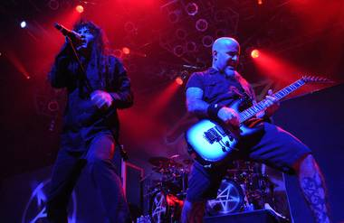 Anthrax, with singer Joey Belladonna and guitarist Scott Ian, headlined at the House of Blues in Mandalay Bay, and Scott Harrison was on  ...