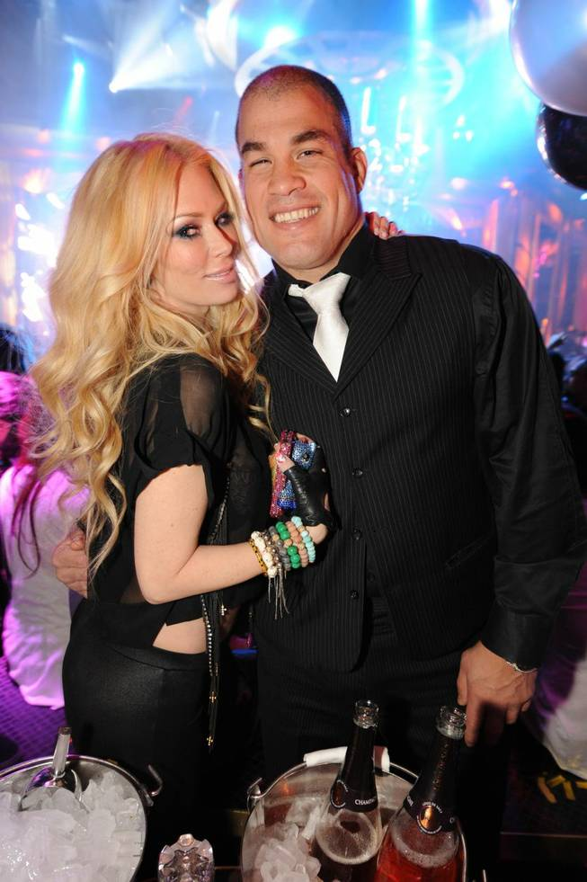 Tito Ortiz celebrates his 37th birthday with wife Jenna Jameson at XS in the Encore on Sunday, Jan. 22, 2012.