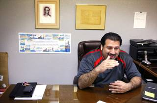 Andres Ramirez, the state director for Nuestro Rio, inside his office in Las Vegas on Friday, Jan. 27, 2012.