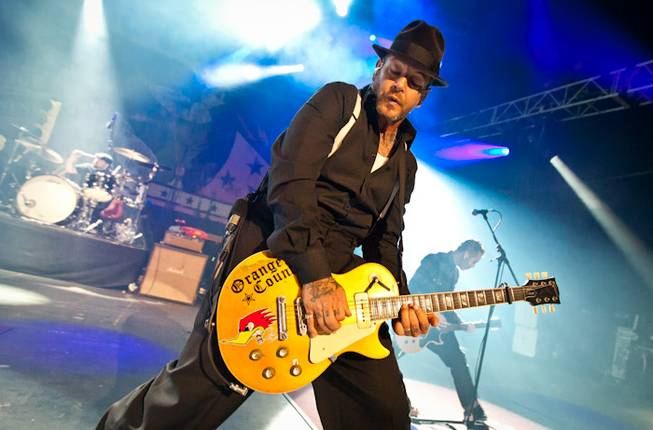 Social Distortion at the Joint in the Hard Rock Hotel on Friday, Jan. 27, 2012.