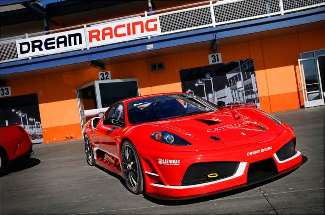 Dream Racing, a one-of-a-kind experience that puts the client in the driver's seat of a Ferrari F430 GT race car, Sat Jan. 28, 2012.