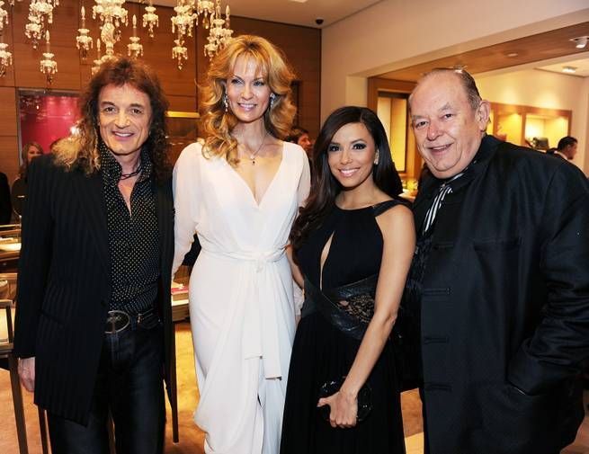 Domenick Allen, Leigh Zimmerman, Eva Longoria and Robin Leach attend the Nevada Ballet's 2012 Woman of the Year event at CityCenter's Cartier in Aria on Saturday, Jan. 28, 2012. Eva Longoria was honored at the 28th annual event.