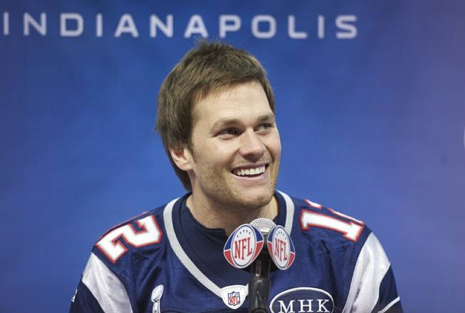 2012 Taste of the NFL and Super Bowl XLVI Media Day with New England Patriots quarterback Tom Brady in Indianapolis on Thursday, Feb. 2, 2012.