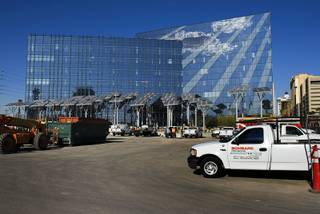 Construction continues on the new City Hall in downtown Las Vegas Wednesday, Feb. 1, 2012.