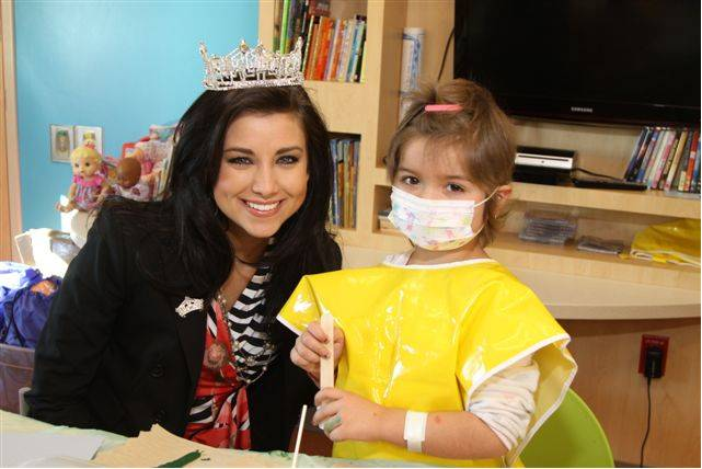 2012 Miss America Laura Kaeppeler at Children's Miracle Network Hospitals in Phoenix.