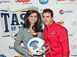 2012 Miss America Laura Kaeppeler at Super Bowl XLVI's Taste of the NFL in Indianapolis on Saturday, Feb. 4, 2012.