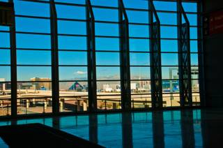 The Las Vegas Strip can be seen Feb. 1, 2012, from McCarran International Airport's new Terminal 3.