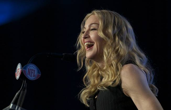 2012 Taste of the NFL and Super Bowl XLVI Media Day with Madonna in Indianapolis on Thursday, Feb. 2, 2012.
