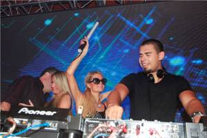DJ Afrojack and the Hiltons at Surrender