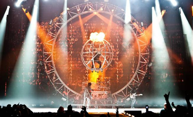 """Motley Crue in Sin City"" debuts at the Joint in the Hard Rock Hotel on Friday, Feb. 3, 2012."