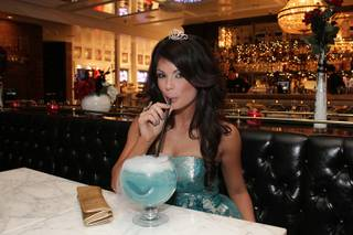 Laura Croft celebrates her birthday at Sugar Factory and Chateau Nightclub & Gardens in the Paris on Friday, Feb. 3, 2012.