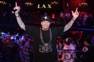 Vanilla Ice hosts and performs at LAX in the Luxor on Saturday, Feb. 4, 2012.
