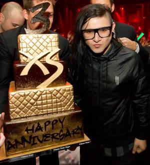 The third anniversary of XS in the Encore with DJ Skrillex on Monday, Feb. 6, 2012.