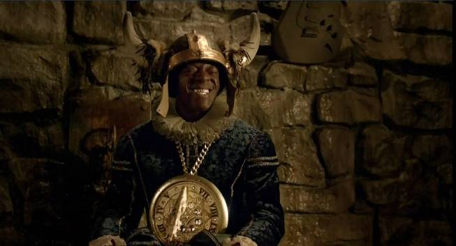Flavor Flav appears in a 2012 Pepsi Super Bowl commercial.